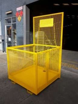 Wiretainers forklift safety cage